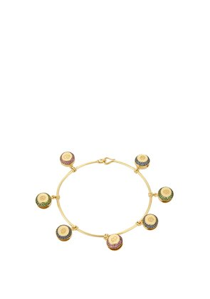 Bells multi-stone & yellow-gold bracelet