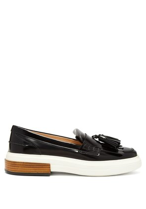 Gomma fringed patent-leather loafers