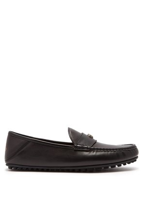 Soft leather moccasin loafers