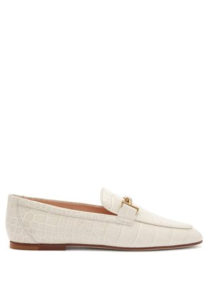 Double T leather loafers