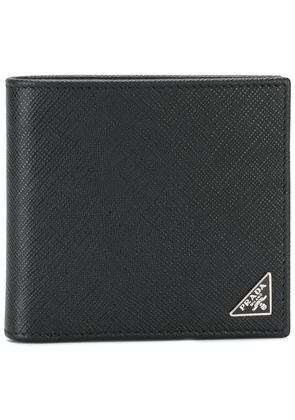 Prada Logo plaque billfold wallet - Black
