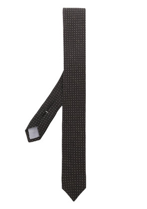 Eleventy micro dot embroidery tie - Brown