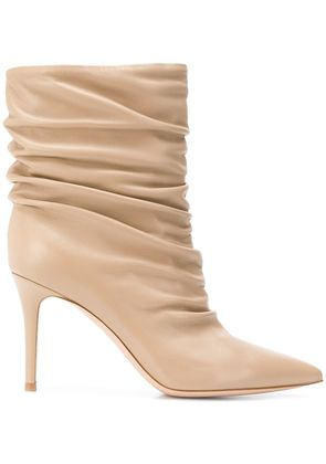 Gianvito Rossi draped ankle boots - Nude & Neutrals
