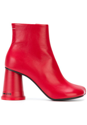 Mm6 Maison Margiela chunky heel boots - Red