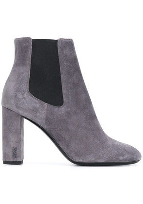Saint Laurent LouLou 95 ankle boots - Grey