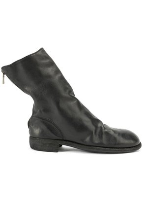 Guidi rear zip boots - Black