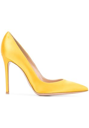 Gianvito Rossi 105 pointed pumps - Yellow & Orange