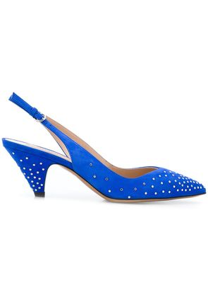 Valentino studded pointed pumps - Blue