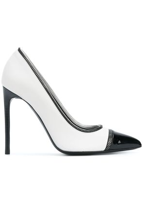 Tom Ford contrast pointed pumps - White