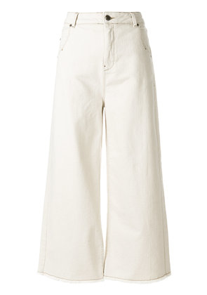 Cotélac wide-legged cropped jeans - Nude & Neutrals
