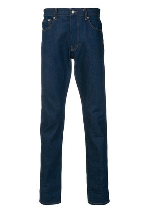 Ami Alexandre Mattiussi Ami Fit 5 Pockets Jeans With Contrasted Cuff -