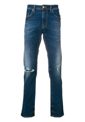 Diesel distressed fitted jeans - Blue