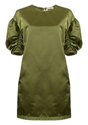 No21 ruched sleeve dress - Green