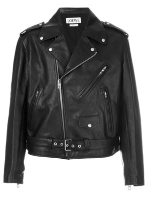 Loewe Loewe Street Journal biker jacket - Black