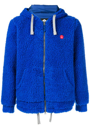 Aspesi hooded zipped jacket - Blue