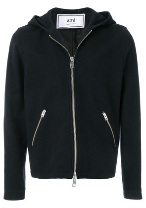Ami Alexandre Mattiussi Zipped Hooded Jacket - Blue