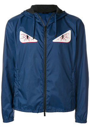 Fendi Bag Bugs windbreaker jacket - Blue