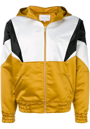 Drôle De Monsieur contrast panel hooded jacket - Yellow & Orange