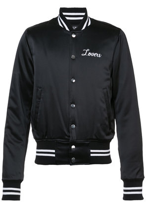 Amiri Lovers baseball jacket - Black