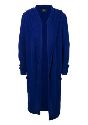 Lost & Found Rooms long hooded cardigan - Blue