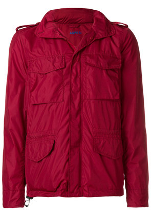 Aspesi cropped lightweight jacket - Red