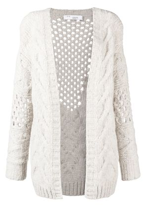 Iro chunky knitted cardigan - Nude & Neutrals
