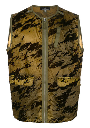 Stone Island Shadow Project printed gilet - Green