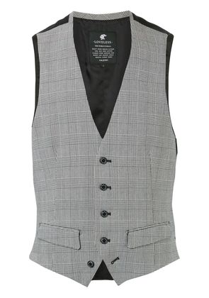 Loveless plaid tailored waistcoat - Grey
