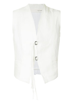 Isabel Benenato military gilet - White