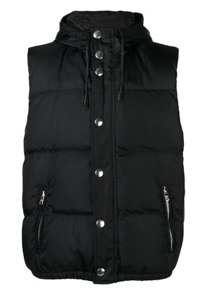 Prada hooded gilet - Black