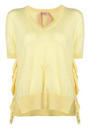 No21 short-sleeve knitted top - Yellow & Orange