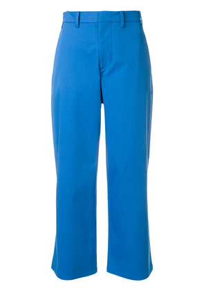 No21 cropped flare trousers - Blue