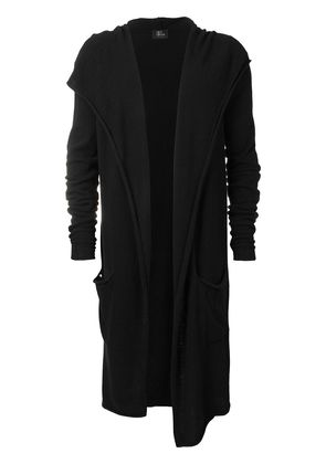 Lost & Found Rooms long hooded cardigan - Black
