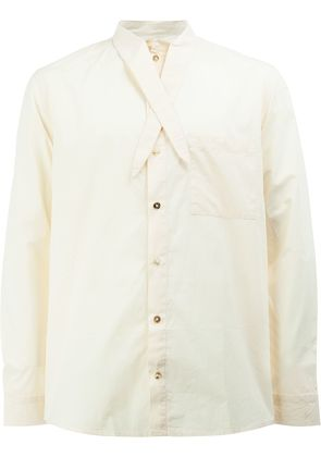 By Walid tie collar shirt - Nude & Neutrals
