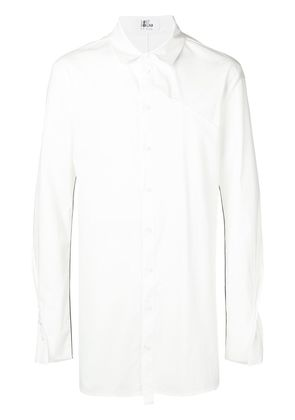 Lost & Found Rooms piping detail long shirt - White