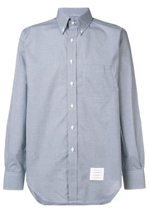 Thom Browne Classic Long Sleeve Poplin Shirt In Small Gingham Check -