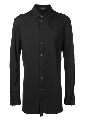Lost & Found Rooms piping detail long shirt - Black