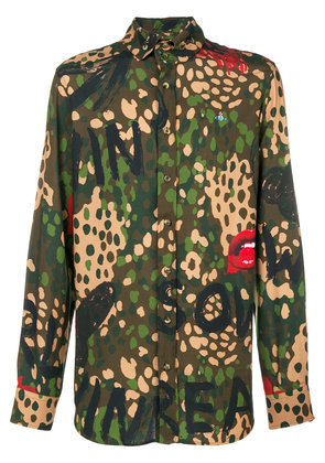 Vivienne Westwood camouflage print shirt - Green