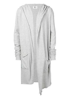 Lost & Found Rooms long parka hooded cardigan - Grey