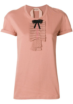 No21 small bow detail blouse - Pink & Purple