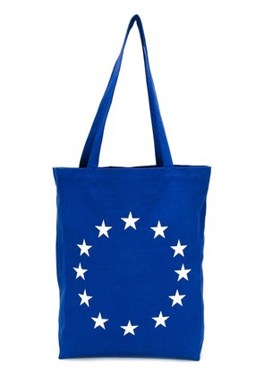 Études embroidered star tote - Blue
