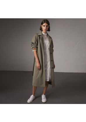 Burberry The Brighton - Extra-long Car Coat, Size: 02, Green
