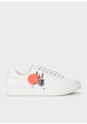 Women's White 'Lapin' Trainers With 'Rabbit' Print And Polka Dots