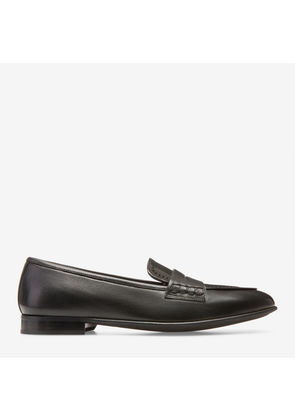 Bally Romika Black, Women's lamb leather penny loafers in black
