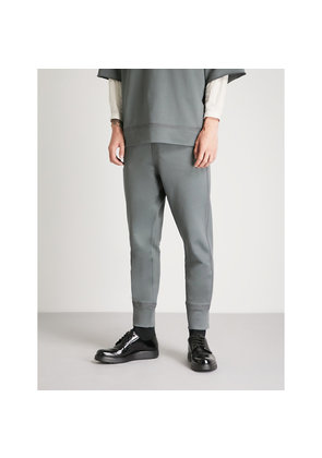 Tapered cotton-jersey jogging bottoms