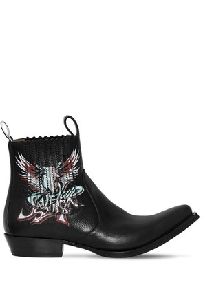 SAVE OUR SOUL LEATHER COWBOY BOOTS