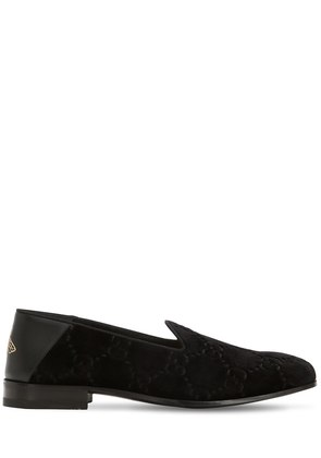 OPEN GALLIPOLI GG VELVET LOAFERS