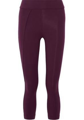 No Ka 'oi Woman Kala Stretch-jersey Leggings Burgundy Size 00