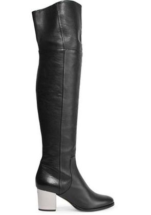 Jimmy Choo Woman Textured-leather Boots Black Size 35