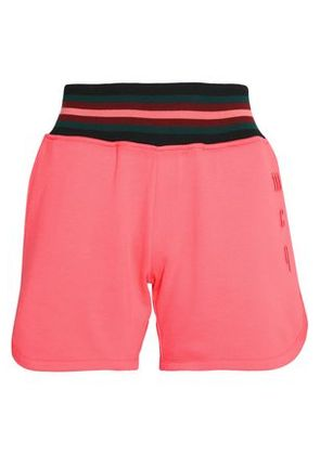 Mcq Alexander Mcqueen Woman Embroidered Cotton-terry Shorts Coral Size XXS